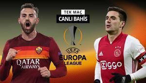 Amsterdamda 2-1 kazanan Roma, yarı final bileti alacak mı Ajaxa verilen iddaa oranı...
