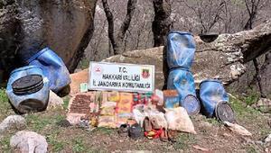 Şemdinlide PKKya ait mühimmat ve yaşam malzemesi ele geçirildi