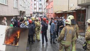 Esenlerde korkutan yangın Mahalleli sokağa döküldü