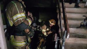 Bodrum katta çıkan yangında 3 kişi dumandan etkilendi