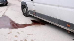 Afyonkarahisarda kan sızan araçtan sakatat çıktı