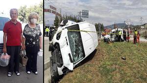Kamyonet ile çarpışan hafif ticari araçtaki çift öldü