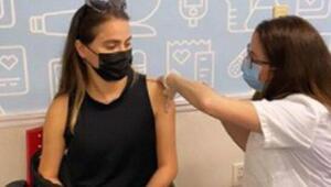 Ceyda Ateş aşısını vuruldu