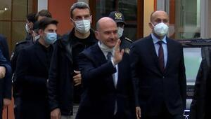 Cumhurbaşkanı Erdoğan ve Bakan Soylu, iftar öncesi Çengeköy Polis Merkezi'ne geldi