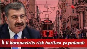 Koronavirüs risk haritası güncellendi: İstanbulda vaka sayısı ne kadar İşte haftalık il il risk haritasında son durum