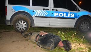 Polisten kaçmaya çalışan alkollü sürücü kovalamaca sonucu yakalandı