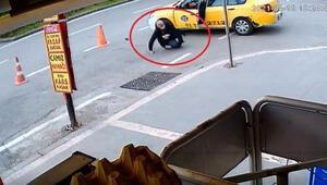 Adana'da taksicinin vurulma anı, güvenlik kamerasında