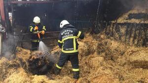 Burdurda samanlık yangını