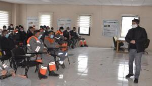 Melikgazide belediye personeline Covid-19 eğitimi