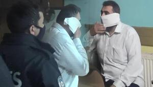 Esenyurtta polis baskınında ilginç anlar Tuvalet kağıdını maske yaptı