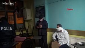 Esenyurtta baskında yakalanınca tuvalet kağıdını maske yaptı