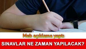 Lise sınavları hakkında açıklama