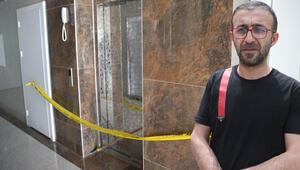 Diyarbakırda korkunç olay Asansör 11. kattan yere çakıldı... Korumak için oğluna sarılan babanın durumu ağır