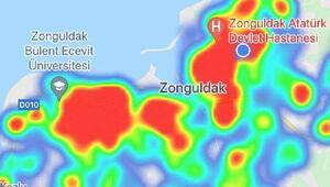 Harita kırmızıya döndü En çok vaka artışının yaşandığı 3üncü il olan Zonguldakta tedbirler yoğunlaştı