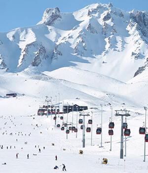 Erciyeste kayak sezonu açılıyor