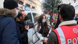Kadın turist, polislere zor anlar yaşattı!