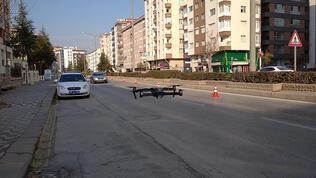 Eskişehir'de drone ile yaya geçidi denetimi