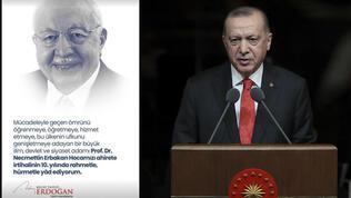 Erdoğan'dan Erbakan paylaşımı