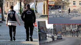 """""""Çok yüksek risk"""" kategorisindeki Aksaray'da meydanlar boş kaldı"""