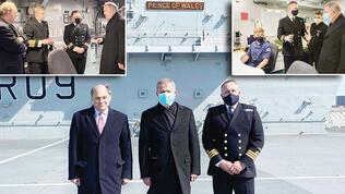 Akar'dan İngiliz uçak gemisine ziyaret