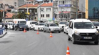 İzmir'de tam kapanmada şaşırtan görüntü