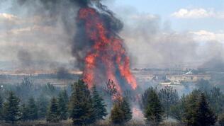 AOÇ'deki yangına jet iddianame