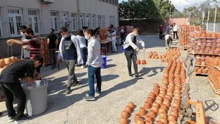 Öğrenciler topraktan ihracata geçti