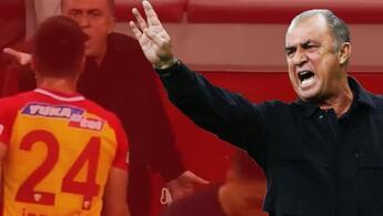 Son Dakika: Kayserispor - Galatasaray maçında gerginlik Terim fena patladı: Sana ne oluyor
