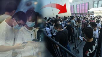 iPhone 13 aşkı pandemi dinlemedi: Yeni iPhone için kuyruğa girdiler