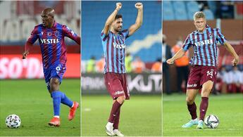 Trabzonsporun golcü üçlüsü Nwakaeme, Bakasetas ve Cornelius...