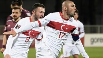 Letonya 1 - 2 Türkiye (Maçın özeti ve golleri)