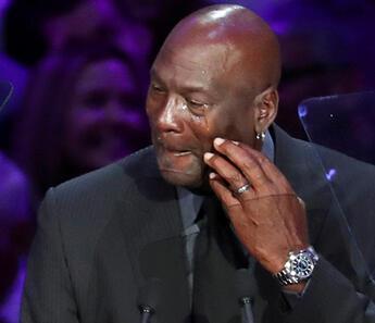 Michael Jordan gözyaşlarını tutamadı