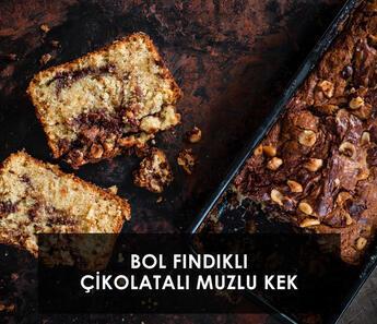 Bol Fındıklı Çikolatalı Muzlu Ekmek