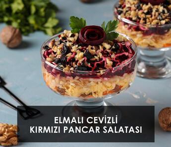 Elmalı Cevizli Kırmızı Pancar Salatası