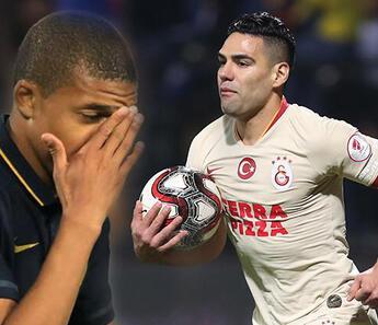Radamel Falcao paylaştı, Kylian Mbappe'den yanıt geldi!