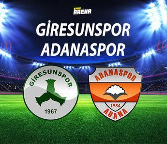 Giresunspor Adanaspor maçı ne zaman saat kaçta hangi kanalda?