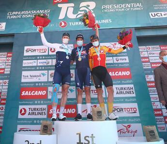 56. Cumhurbaşkanlığı Türkiye Bisiklet Turu'nun 6. etabını Jasper Philipsen kazandı