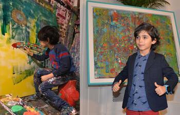 Henüz 7 yaşında! Şimdiye kadar 90 tablosu satıldı