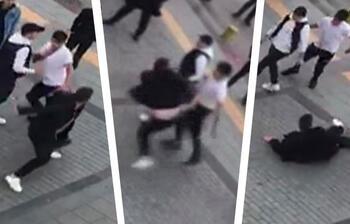 Sokak ortasında bir garip kavga! Nedeni pes dedirtti...