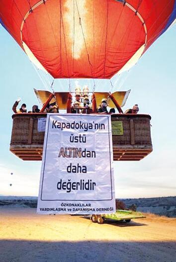 'Kapadokya'da altın madeni olmasın'