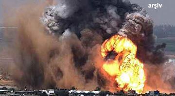 Azez'e hava bombardımanı, ölü ve yaralılar var