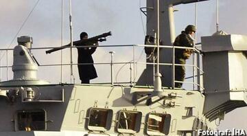 İstanbul Boğazını geçen Rus savaş gemisinde füzeli asker