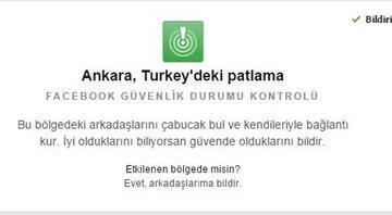Facebook Ankaradaki kullanıcılarına bu mesajı geçti