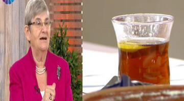 """Prof. Dr. Canan Karatay """"Zahide Yetiş'le""""de canlı yayında tereyağlı çay içti"""