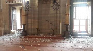Veznecilerdeki saldırı tarihi camide hasara yol açtı