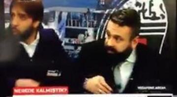 BJK TVnin canlı yayınında patlama anı