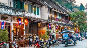 Asyada küçük bir Fransız kasabası: Luang Prabang