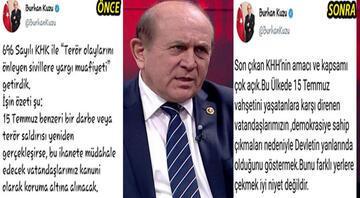 AK Parti yönetimi uyardı, Kuzu geri adım attı
