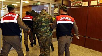 Edirnede gözaltına alınan 2 Yunan asker tutuklandı