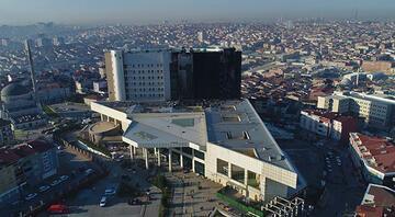 Taksim İlk Yardım Hastanesi yangın sonrası havadan görüntülendi